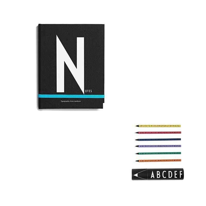 筆記本N+abc色鉛筆組