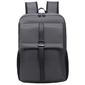 Nwn メンズビジネストラベルバッグバックパックコンピュータバッグ学生ショルダーバッグ (Color : Gray)