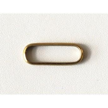 6個帯留め金具用 甲丸つなぎカン 内径18mm 真鍮