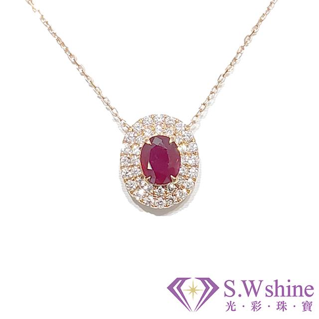 【光彩珠寶】紅寶石鑽石項鍊II