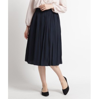 Dessin(Ladies)(デッサン(レディース)) 【ママスーツ/入学式 スーツ/卒業式 スーツ S~Lサイズあり 洗える】パウダーサテンスカート