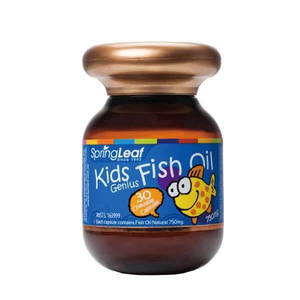 Spring Leaf 綠芙特級 兒童魚油軟膠囊 (30顆/單瓶)【杏一】