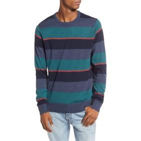 RVCA(ルーカ) アウター ニット・セーター RVCA Kemper Stripe Sweater Moody Blue メンズ [並行輸入品]