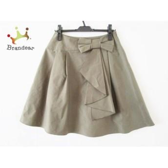 エムズグレイシー M'S GRACY ロングスカート サイズ40 M レディース カーキ リボン   スペシャル特価 20200307