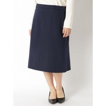 【大きいサイズレディース】【LL-4L】【大きいサイズ】【ジャケットスーツ】ひざ丈台形スカート スカート 膝丈スカート
