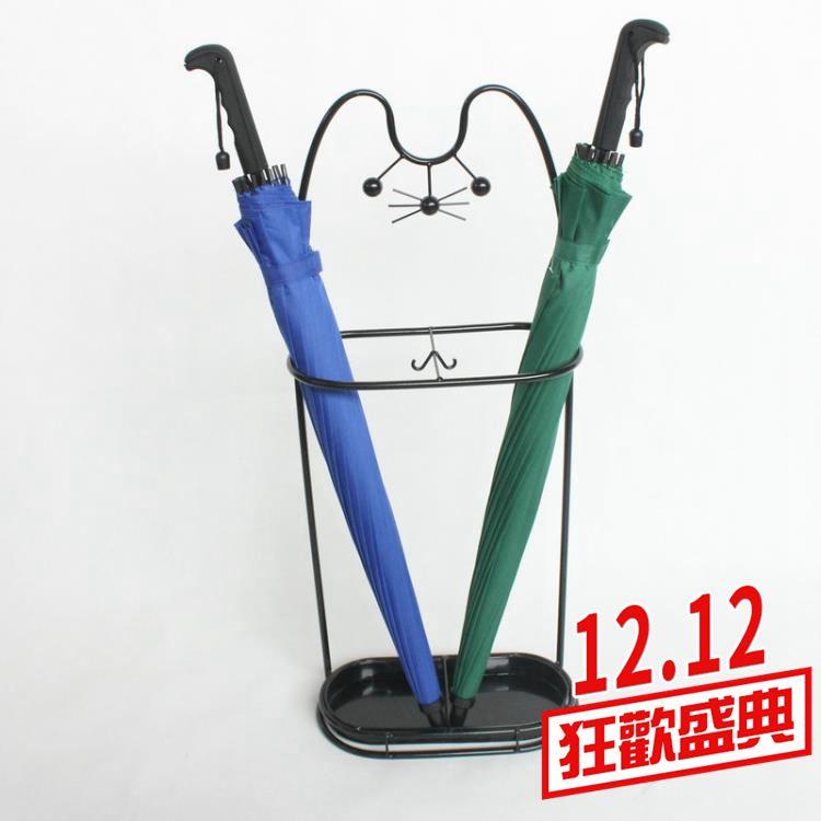 雨傘架 創意雨傘架家用鐵藝傘筒雨傘桶收納桶落地式折疊放傘架子