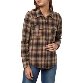 O'NEILL(オニール) トップス シャツ O'Neill Zuma Plaid Fleece Shirt Desert Tau レディース [並行輸入品]