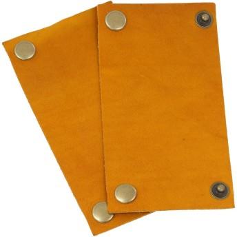本革製ハンドルカバー ≪2枚組≫ サイズ:S/カラー:ジャアッロ/ボタン:古金