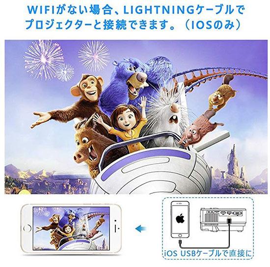 【現貨】 Jinhoo  數據投影儀2400LM 可WiFi連接 可與智能手機直接連接,不需要HDMI更換接口支持1080P