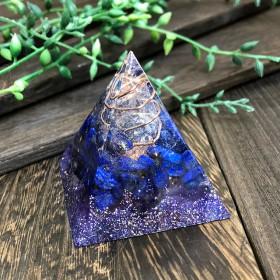 ピラミッド型Ⅱ オルゴナイト ラピスラズリ&アメジスト