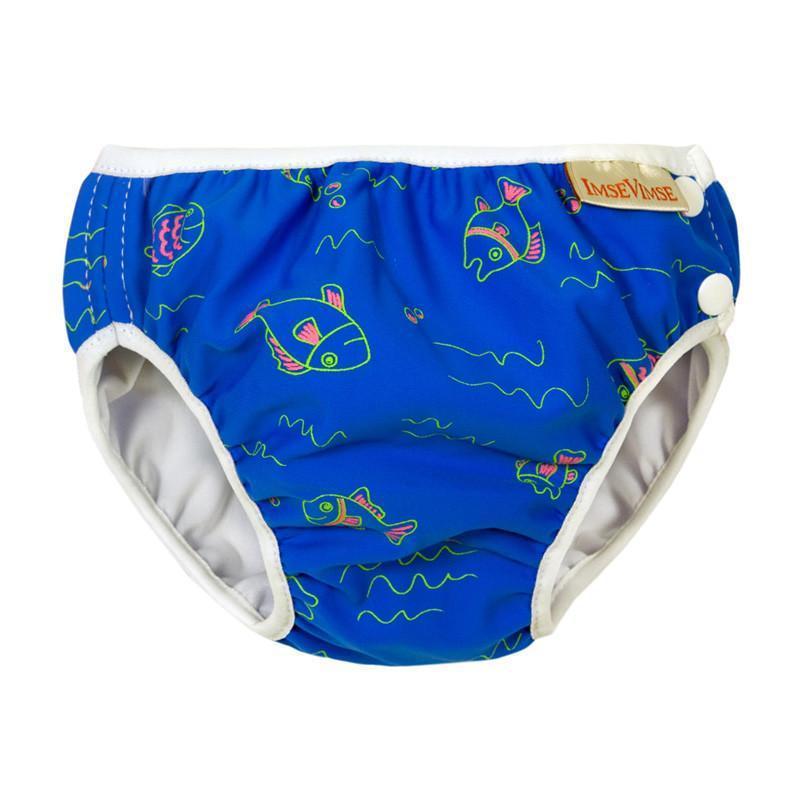超彈性防漏游泳尿褲(藍色小魚) Small(6-8kg)