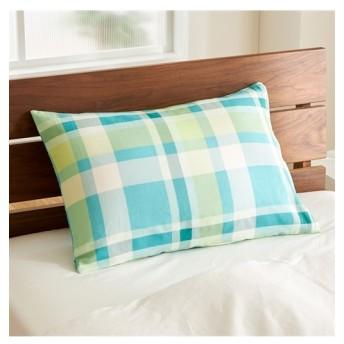 綿混チェック柄枕カバー(ファスナー式) 枕カバー・ピローパッド, Pillow covers, 枕套(ニッセン、nissen)