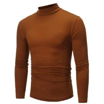 Zdada タートルネック 長袖 Tシャツ メンズ タートル ハイネック 大きいサイズ 無地 薄手 ストレッチ カジュアル 春 秋 冬
