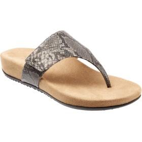 [トロッターズ] シューズ サンダル Petaluma Wedge Sandal (Women) Black/Whi レディース [並行輸入品]