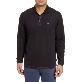 Tommy Bahama トップス ポロシャツ Tommy Bahama Emfielder Long Sleeve Polo Black メンズ [並行輸入品]