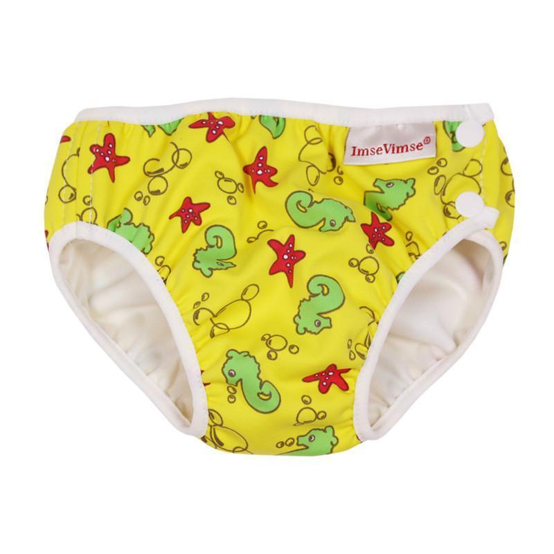 超彈性防漏游泳尿褲(黃色海洋) Medium 7-10kg