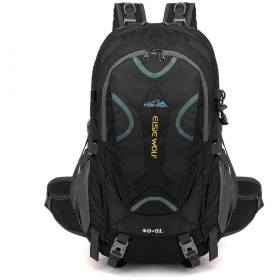 登山バッグ 山のキャンプの余暇のスポーツのバックパックをハイキングする大容量の防水および破損防止の多機能旅行 登山リュック・ザック (色 : ブラック)