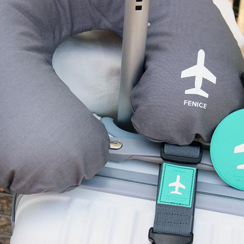 LINE-UP 飛機造型旅行用頸枕 - 灰