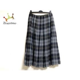 レキップ ヨシエイナバ 巻きスカート サイズ38 M レディース 美品 黒×ベージュ×グレー 新着 20191205