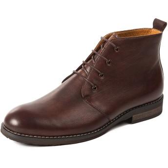 [WEWIN] ブーツ マーティンブーツ メンズ 本革 4ホール 紳士靴 革靴 手作り ローカット レースアップ デザートブーツ チャッカブーツ ビジネスシューズ フォーマル バイク用 カジュアル 通気 防滑 超楽 靴 ファッション