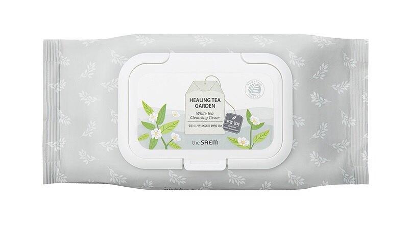【即期良品買一送一】the SAEM 白茶樹卸妝濕巾-60pcs Healing Tea Garden white tea Cleansing Tissue【辰湘國際】