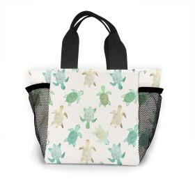 カラフルなウミガメ トートバッグ 買い物バッグ レディース おしゃれ バッグ ハンドバッグ エコバッグ 人気 ランチバッグ