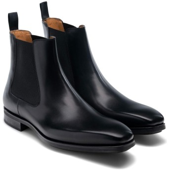[Magnanni] シューズ ブーツ・レインブーツ Riley Diversa Chelsea Boot (Men Black Leat メンズ [並行輸入品]