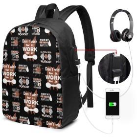 動機付けの動き リュック バックパックリュックサック USB充電ポート付き イヤホン穴付き 大容量 PCバッグ レジャーバッグ 旅行カバン 登山リュック ビジネスリュック ユニセックス おしゃれ 人気
