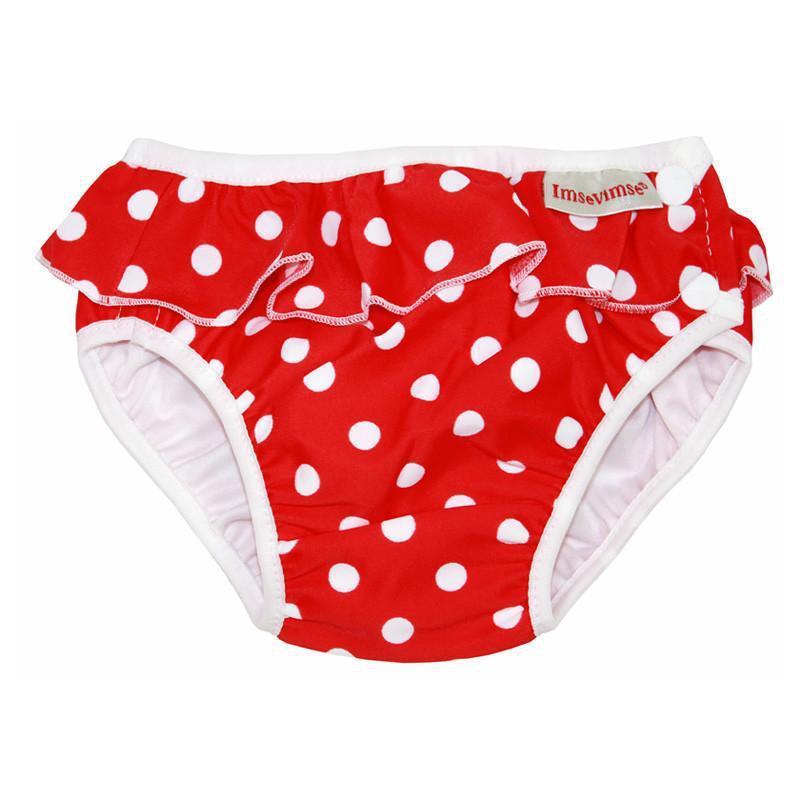 超彈性防漏游泳尿褲(紅色點點) Medium 7-10kg