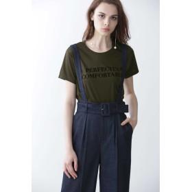 PINKY&DIANNE(ピンキーアンドダイアン)/◆フロッキープリントロゴTシャツ