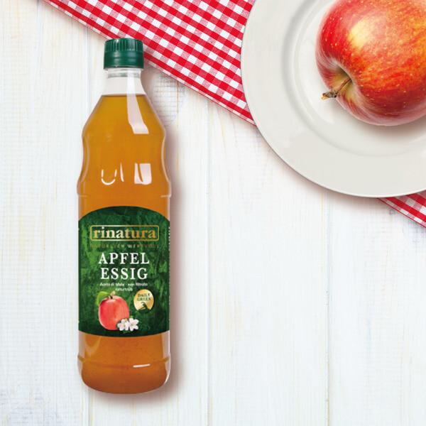 rinatura天然無糖蘋果醋750ml 無人工色素 化學添加(不加工過濾 酸度5)