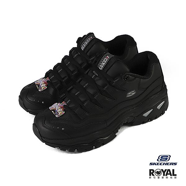 Skechers Energy 黑色 皮質 復古 運動休閒鞋 女款 NO.J0184【新竹皇家 2250BBK】