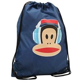 学校に戻るPaul Frank Julius the Monkey Navy Drawstring Bag-PE or Swimming