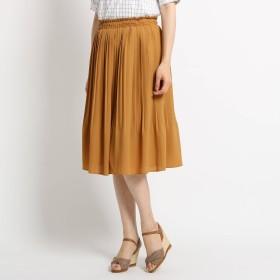 SunaUna(スーナウーナ)/【洗える】ジョーゼットプリーツスカート