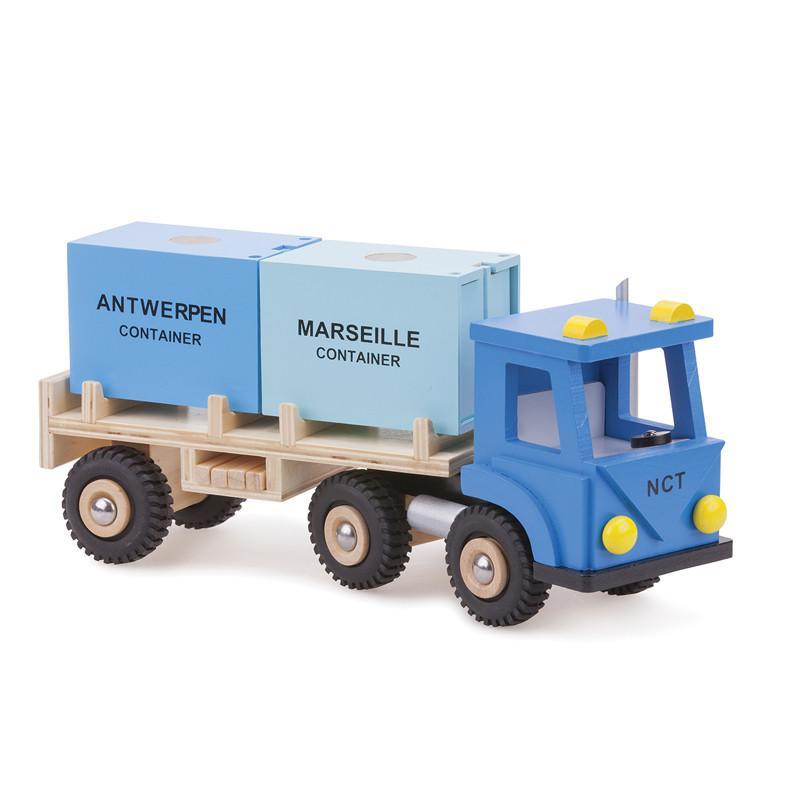 New Classic Toys 貨櫃系列 木製裝運貨櫃車玩具 10910