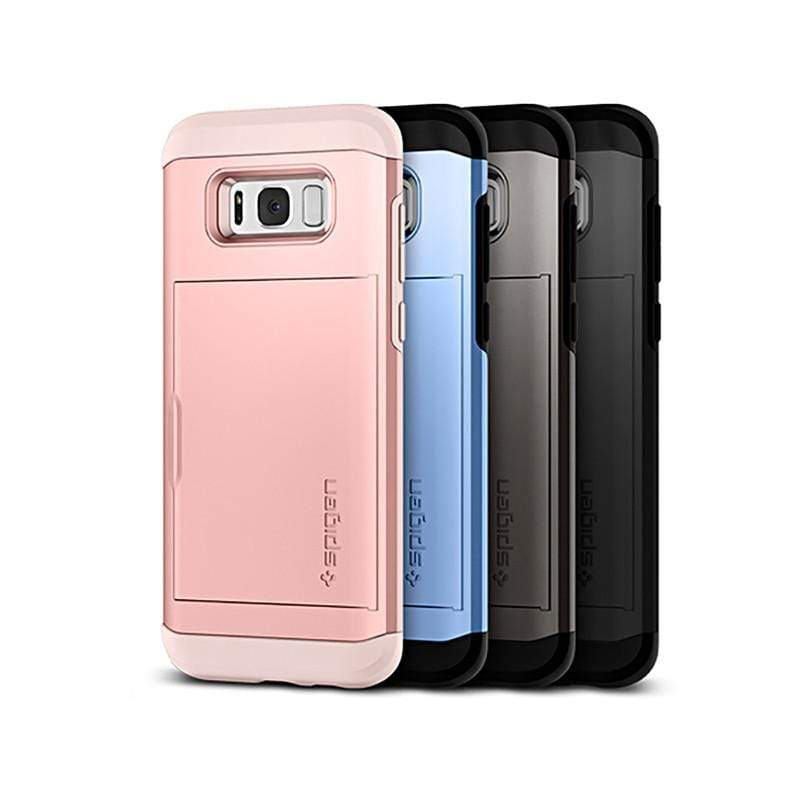 Galaxy S8 Plus Slim Armor CS-複合式卡夾防震保護殼 玫瑰金