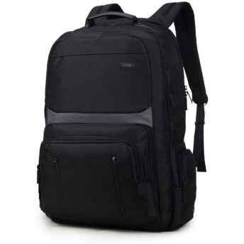 Sinntyan 防水大容量オックスフォード布ウェアラブルハイキングのバックパック (色 : ブラック, サイズ : 17.3inch)