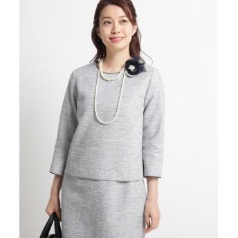 Dessin(Ladies)(デッサン(レディース)) 【ママスーツ/入学式 スーツ/卒業式 スーツ Sサイズあり】ツイードブラウス
