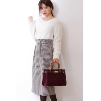 プロポーションボディドレッシング(PROPORTION BODY DRESSING)/ベルト付き千鳥チェックロングタイトスカート