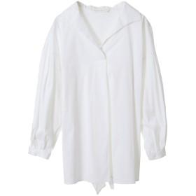 31 Sons de mode トランテアン ソン ドゥ モード エアリーバックリボンシャツ オフホワイト