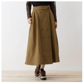 【オゾック/OZOC】 【洗える】ダブルボタンミディチノ/トレンチスカート