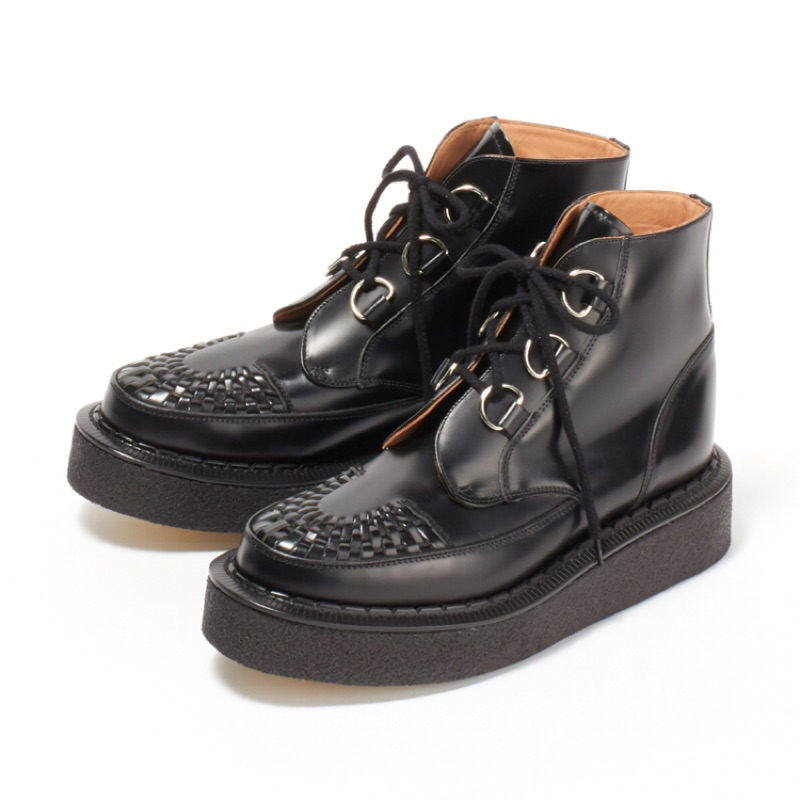 George Cox - 13327 VI Black D Ring Creeper Boot 圓頭厚底靴 - 黑皮