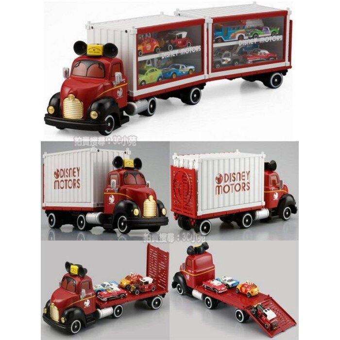 【Fun心玩】DS82146 麗嬰 正版盒裝 日本 TOMICA 【迪士尼 夢幻 展示貨車】多美 米奇 貨櫃 拖板車