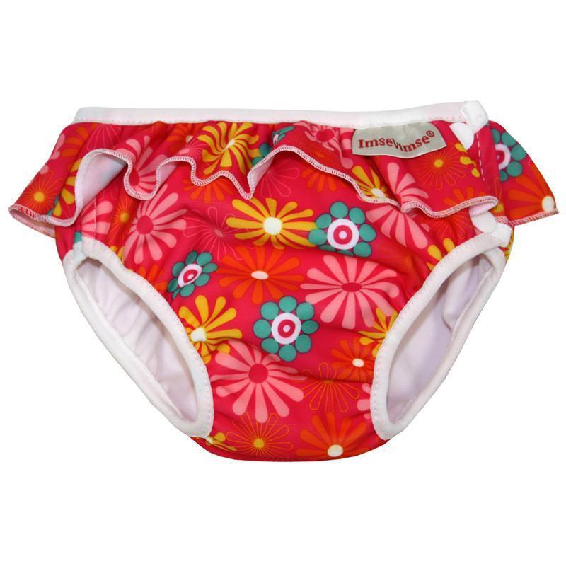 超彈性防漏游泳尿褲(繽紛花漾) Medium 7-10kg