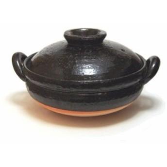 長谷園 ヘルシー蒸し鍋 黒 中 (2~4人用) ZW-22