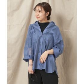 CAPRICIEUX LE'MAGE(カプリシュレマージュ) レディース シアーポケシャツ ブルー