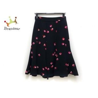 ケイトスペード Kate spade スカート サイズ0 XS レディース 美品 黒×レッド×ピンク 花柄   スペシャル特価 20200221