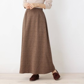 OPAQUE.CLIP(オペーク ドット クリップ)/【洗える・42(LL)WEB限定サイズ】ジョーゼットシックレオパードマキシスカート