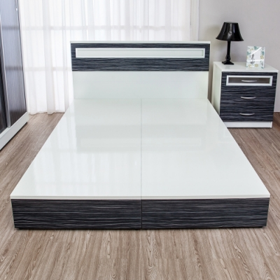 Birdie南亞塑鋼 5尺雙人塑鋼床底 不含床頭片 鐵刀木色