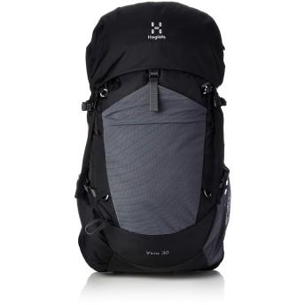 [ホグロフス] 登山用リュック VINA 30 ヴィーナ30 背中が蒸れにくい サイドオープニング ブルーサイン TRUE BLACK/MAGNETITE S-M